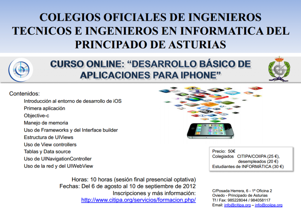 Cartel Curso iPhone Online CITIPA